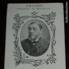 Postales: POSTAL DE KRÜGER, PRESIDENT DU TRANSVAAL, SUDAFRICA, NO CIRCULADA, SIN DIVIDIR.. Lote 183269365