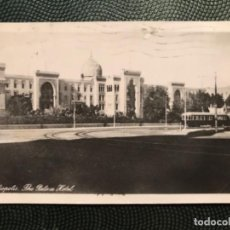 Postales: FOTOGRAFICA ANTIGUA EGIPTO ALEJANDRIS HELIOPOLIS THE PALACE HOTEL TRANVIA GEVAERT. Lote 183621042
