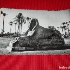 Postales: MEMPHIS - EGYPTE - LES SPHYNX D'ALBATRE - 117 - ESCRITA Y CIRCULADA - EGIPTO - ESFINGE. Lote 187380590