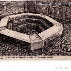 Postales: TARJETA POSTAL DE RUINES ROMAINES DE TIMGAD. BAPTISTERE BYZANTIIN.. Lote 189082617