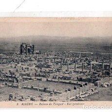 Postales: TARJETA POSTAL DE RUINES ROMAINES DE TIMGAD. VUE GENERALE.. Lote 189083145