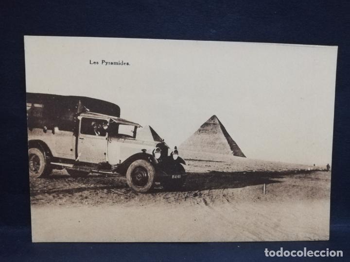 TARJETA POSTAL DE EGIPTO. LES PYRAMIDES. (Postales - Postales Extranjero - África)