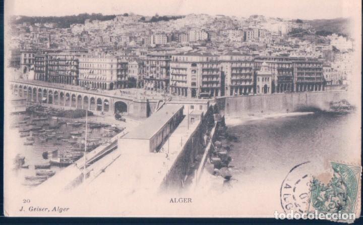 POSTAL ARGELIA - ALGER - J GEISER - 20 (Postales - Postales Extranjero - África)