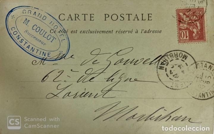Postales: TARJETA POSTAL. ARGELIA. CONSTANTINE.- GORGES DU RHUMMEL. LA ROUTE DE LA CORNIEBE. ND PHOT. - Foto 2 - 190204767