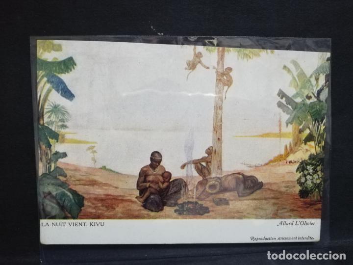 TARJETA POSTAL DEL CONGO. LA NUIT VIENT. KIVU. ALLARD L´OLIVIER. (Postales - Postales Extranjero - África)