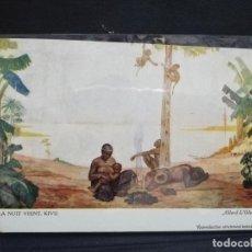 Postales: TARJETA POSTAL DEL CONGO. LA NUIT VIENT. KIVU. ALLARD L´OLIVIER.. Lote 190221276