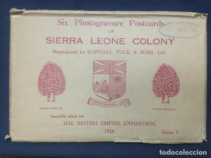 12 POSTALES SIERRA LEONE COLONY - 1924 - SERIE 5 Y 6 - THE BRITISH EMPIRE EXHIBITION - TUCK'S - SC (Postales - Postales Extranjero - África)