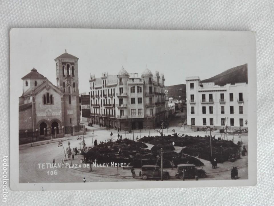 900 POSTAL NUEVA - 106 - TETUAN / PLAZA MULEY MEHOY - IGLESIA (Postales - Postales Extranjero - África)