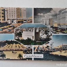 Postales: CASABLANCA MARRUECOS CINCO VISTAS POSTAL. Lote 191354577