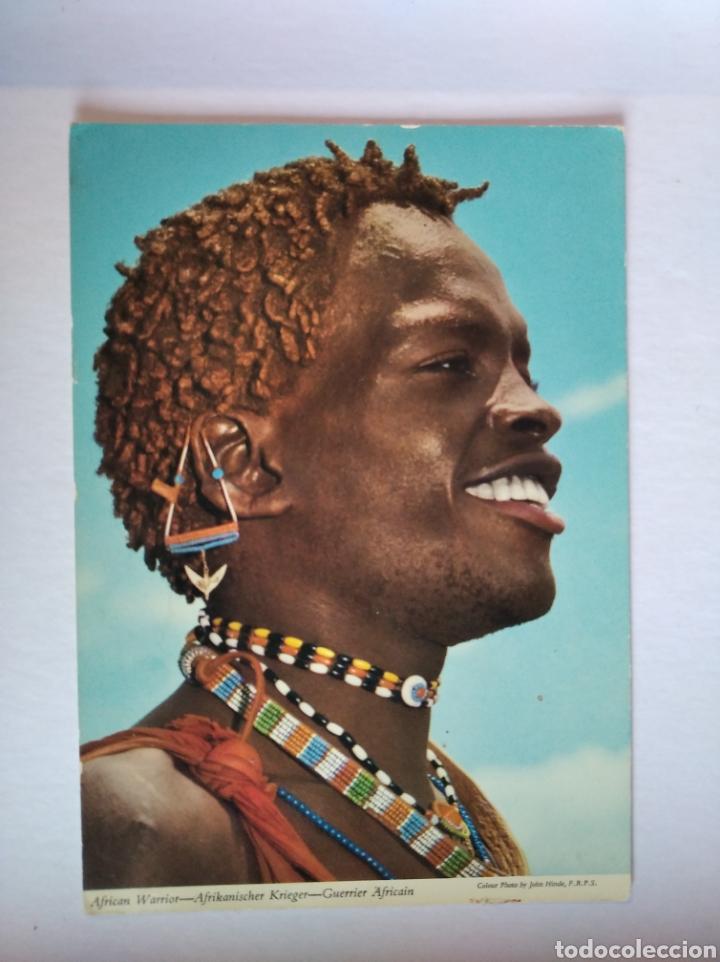 POSTAL AFRICA WARRIORS GUERRERO AFRICANO JOHN HINDE (Postales - Postales Extranjero - África)