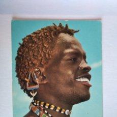 Postales: POSTAL AFRICA WARRIORS GUERRERO AFRICANO JOHN HINDE. Lote 191382312