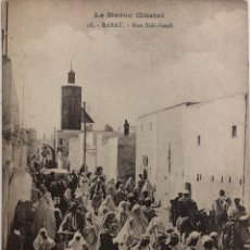 Postales: TARJETA POSTAL MARRUECOS. LE MAROC ILLUSTRE. RABAT- RUE SIDI-FATAH.. Lote 191688972