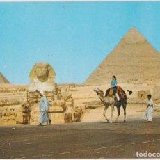 Postales: EGIPTO, GIZA, LA GRAN ESFINGE Y PIRAMIDE DE KHEFREH - S/C. Lote 191979786
