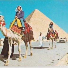Postales: EGIPTO, GIZA, LA IMPONENTE PIRÁMIDE - S/C. Lote 191979862