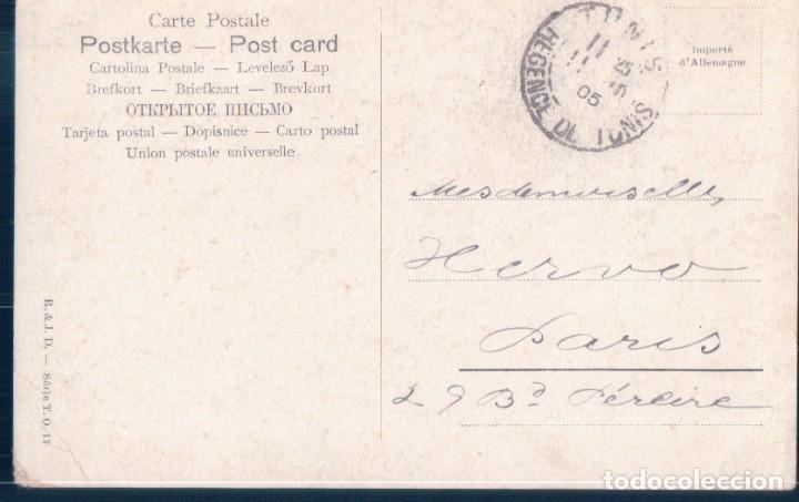Postales: POSTAL TUNEZ - BAIN AU HAREM - BAÑO DE UN HAREM - R & J D SERIE T O 17 - Foto 2 - 193702920