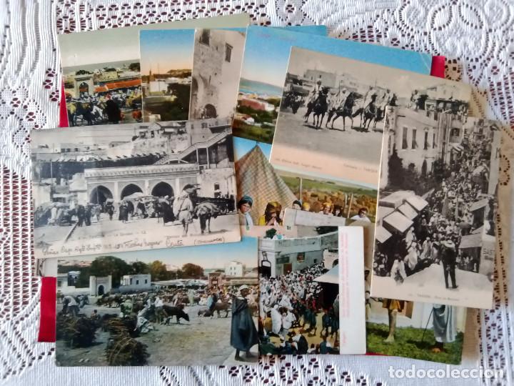 W.- 26.- LOTE DE -- 14 -- POSTALES DE -- TANGER -- DIFERENTES LUGARES DE LA POBLACION , VER FOTOS (Postales - Postales Extranjero - África)