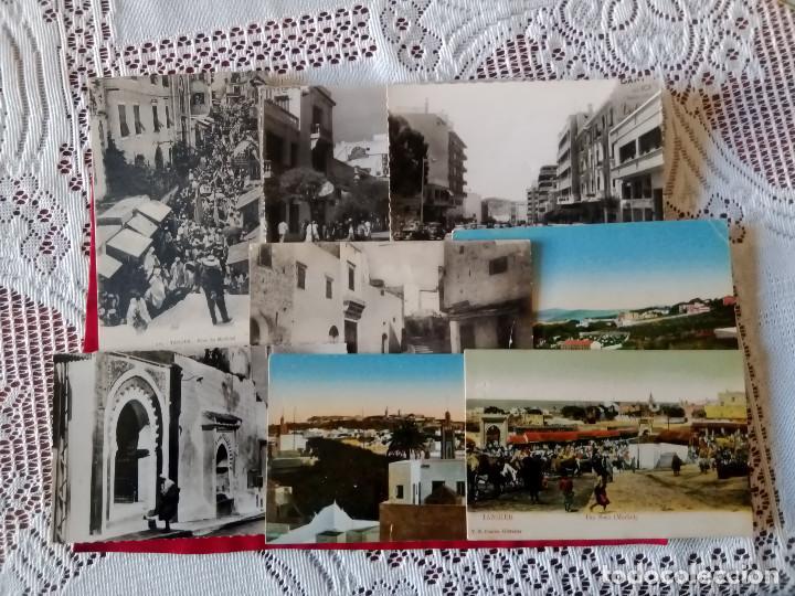 Postales: W.- 26.- LOTE DE -- 14 -- POSTALES DE -- TANGER -- DIFERENTES LUGARES DE LA POBLACION , VER FOTOS - Foto 3 - 194218421