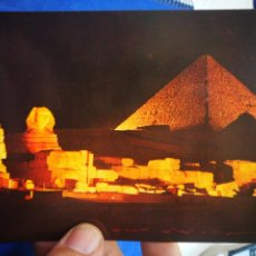 Postales: POSTAL EGIPTO GOZA SOUND AND LIGHT ST THE PIRÁMIDES OF GIZA. Lote 194770536