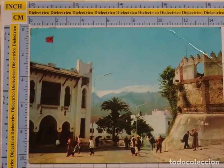 POSTAL DE MARRUECOS. TETUAN ESCUELA Y PUERTA REINA. 97 PHOTOLZDAT BULGARIA. 70 (Postales - Postales Extranjero - África)
