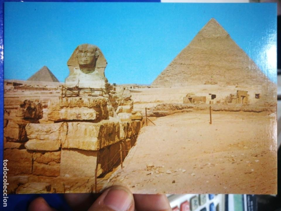 POSTAL GIZA THE GREAL SPHINX AND KHEFREH PYRAMID (Postales - Postales Extranjero - África)