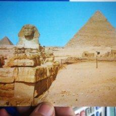 Postales: POSTAL GIZA THE GREAL SPHINX AND KHEFREH PYRAMID. Lote 194954805