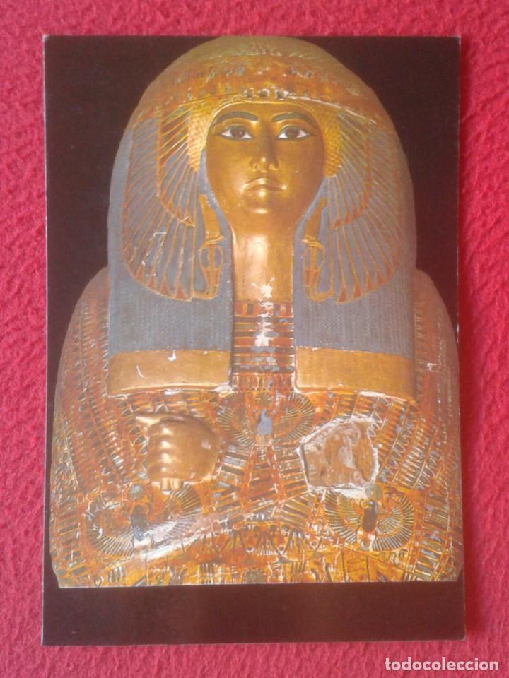 ANTIGUA POSTAL POST CARD EGYPT EGIPTO WOODEN COFFIN OF QUEEN MA-ETKERE CON SELLO, ATAUD DE MADERA... (Postales - Postales Extranjero - África)