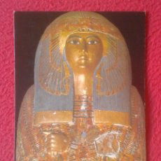 Postales: ANTIGUA POSTAL POST CARD EGYPT EGIPTO WOODEN COFFIN OF QUEEN MA-ETKERE CON SELLO, ATAUD DE MADERA.... Lote 195013803