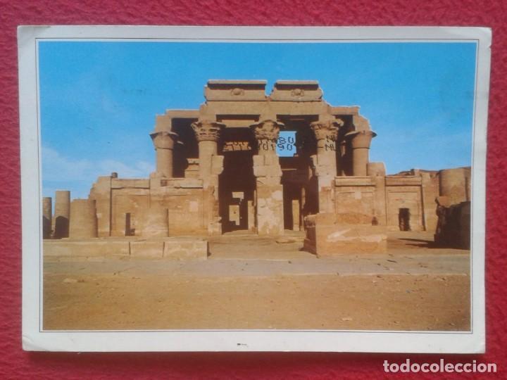 ANTIGUA POSTAL POST CARD EGYPT EGIPTO KOM OMBO TEMPLE TEMPLO ESCRITA Y CIRCULADA CON SELLO POST CARD (Postales - Postales Extranjero - África)
