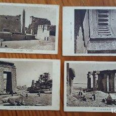 Postales: LOTE DE 4 ANTIGUAS TARJETAS POSTALES DE EGYPTO. SIN CIRCULAR. AÑOS 20-30.. Lote 195302616