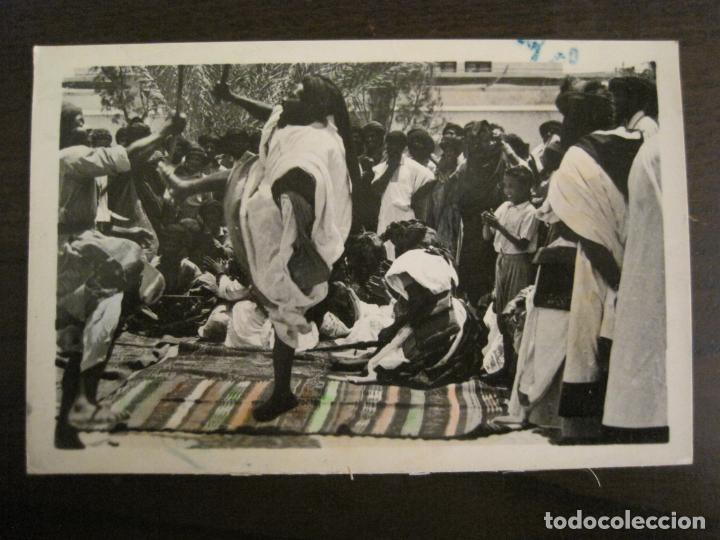 SAHARA ESPAÑOL-BAILE INDIGENA DE LAS ESPADAS-FOTO A.DE PORRAS-POSTAL FOTOGRAFICA ANTIGUA-(68.172) (Postales - Postales Extranjero - África)