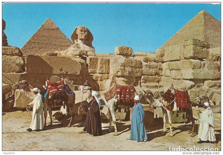 == B1428 - POSTAL - GIZA - THE GREAT SPHINX AND KEOPS PYRAMID (Postales - Postales Extranjero - África)