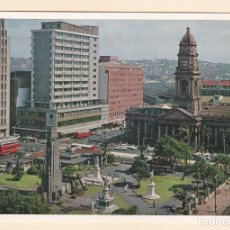 Postales: POSTAL PLAZA FRANCIS FAREWELL. CENOTAFIO. PRINCIPALES EDIFICIOS OFICINAS. DURBAN (SUDAFRICA). Lote 195573210