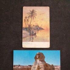 Postales: EGIPTO , GIZA, ABEND AM NIL. Lote 198641210