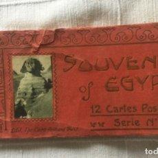 Postales: SOUVENIR OF EGYPT - 12 CARTES POSTALES - SERIE N° 207 - EDIT. THE CAIRO POSTCARD TRUST - EGIPTO - SC. Lote 201723447