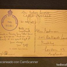 Postales: TARJETA POSTAL CON CENSURA. ARGELIA. ARGEL. 10.- SQUARE LAFERRIÈRE. 1943. Lote 202534873