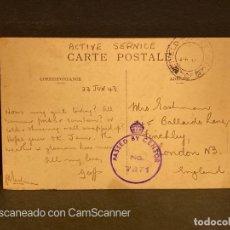 Postales: TARJETA POSTAL CON CENSURA. TUNEZ. 116.- JONGLEURS TUNISIENS. 1943.. Lote 202535470