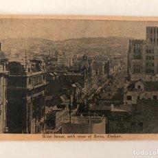 Postales: TARJETA POSTAL DE DURBAN, WEST STREET, WHIT VIEW OF BEREA.. Lote 205258270