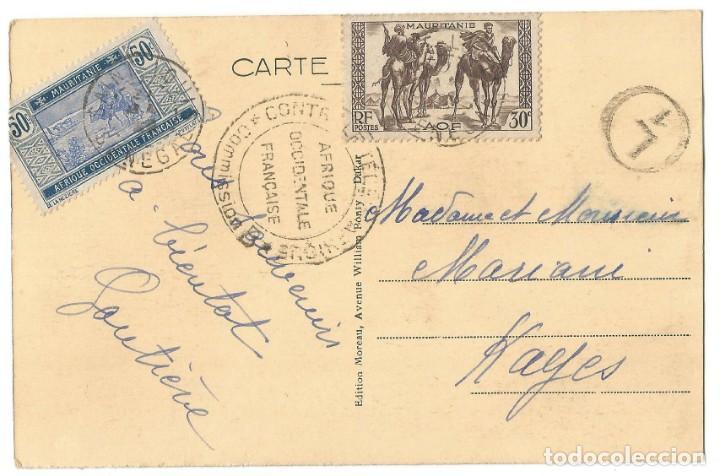 Postales: DAKAR - SELLOS MAURITANIA - 1910 - Foto 2 - 205602047