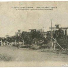 Postales: AFRIQUE OCCIDENTAL FRANÇAIS - KOULOUBÁ - SENEGAL/NIGER - 1914. Lote 205602202