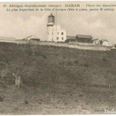Postales: AFRIQUE OCCIDENTAL FRANÇAIS - DAKAR - SENEGAL - PHARE 1927. Lote 205602302