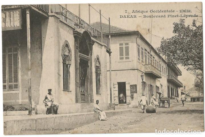 AFRIQUE OCCIDENTAL FRANÇAIS - BOULEVARD PINET-LAPRADE - DAKAR SENEGAL - 1908 (Postales - Postales Extranjero - África)