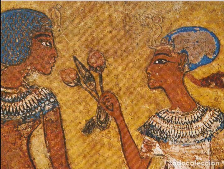 ARTE EGIPCIO, ESTELA DE LOS ENAMORADOS EN EL JARDIN - COLECCION PERLA Nº 114 - S/C (Postales - Postales Extranjero - África)