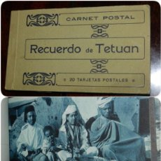 Postales: CUADERNILLO DE 20 POSTALES DE RECUERDO DE TETUAN, MARRUECOS, COMPLETO.. Lote 208222085