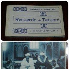 Postales: CUADERNILLO DE 20 POSTALES DE RECUERDO DE TETUAN, MARRUECOS, COMPLETO.. Lote 208222503