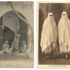 Postales: LOTE 10 POSTALES ARGELIA - SCENES ET TYPES - KABYLES, BEDUINAS - FEMMES 1902 / 1953. Lote 210158957
