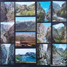 Postales: POTES, LIÉBANA, DESFILADERO DE HERMIDA, VALDEÓN, CAIN, CARES, PICOS DE EUROPA 41 POSTAL AÑOS 60-70. Lote 210813321