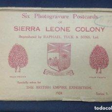 Postales: 12 POSTALES SIERRA LEONE COLONY - 1924 - SERIE 5 Y 6 - THE BRITISH EMPIRE EXHIBITION - TUCK'S - SC. Lote 211868151