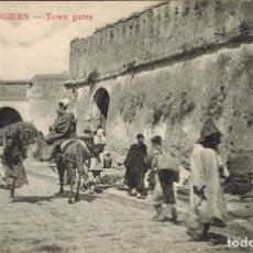 Postales: TANGER, MARRUECOS. Nº 18, PUERTAS DE LA CIUDAD. Lote 211975117