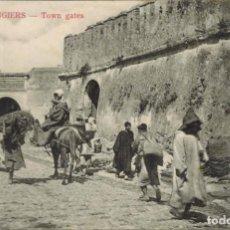 Postales: TANGER, MARRUECOS. Nº 18, PUERTAS DE LA CIUDAD. CIRCULADA 1906 SIN SELLO. Lote 211975227