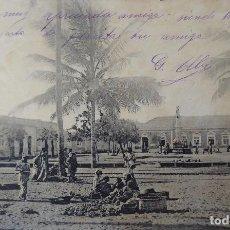 Postales: P-11540. MOSSAMEDES. PRAÇA DE COLONIA. MERCADO DE FRUCTA. ANGOLA. AÑO 1907. Lote 213083606